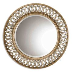 Entwined Mirror Uttermost Round Mirrors Home Decor