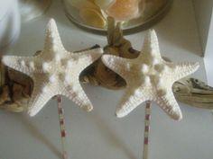 Pair of Knobby Starfish Bobby Pins Set of by lorisartstudio, $7.50