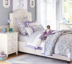 Eliza Tufted Bed | Pottery Barn Kids Australia