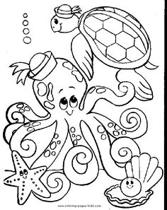 Octopus color page, animal coloring pages, color plate, coloring sheet,printable coloring picture