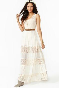 nasty gal lace maxi dress