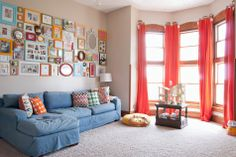 Now THAT is how you fill a big empty wall — salon style! Now I just wish I had a big empty wall...