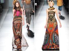 Left-hand dresses seem to be my luck! Love the vivid colors and patterns of this one.