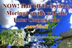 50% off sale Moringa products www.Healingmoringatree.com
