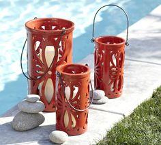 Medano Ceramic Lanterns | Pottery Barn / Design Intern 2012