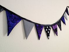 Chic, Goth Halloween fabric pennant banner. Sweet October on #Etsy    www.sweetoctobershop.etsy.com