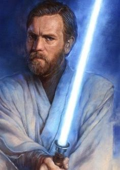 Obi-Wan Kenobi (Ewan McGregor/Alec Guinness) - a Jedi master. He trained and teamed with Anakin Skywalker who became Darth Vader and survived the fall of the Jedi council. Star Wars Fan Art, Star Wars Saga, Star Wars Jedi, Star Wars Pictures, Star Wars Images, Obi Wan, Star Wars Characters, Star Wars Episodes, Sith Warrior