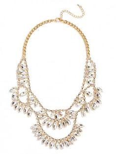 our crystal oksana bib is super glam