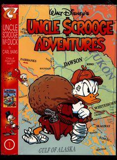 Uncle Scrooge Adventures in Color - Carl Barks 1 Vintage Ephemera, Vintage Books, Donald Duck Comic, Uncle Scrooge, Scrooge Mcduck, Comics Story, Character Names, Walt Disney, Seal