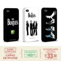 Kit Com 3 Capas de iPhone 4/4S The Beatles - Classics