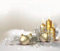 Imágenes De Navidad Y Año Nuevo: Velas Navideñas