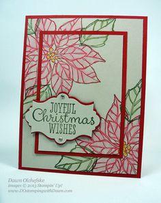 Joyful Christmas Poinsettia: Blender Pen Technique