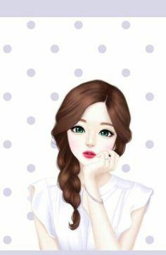 Image de cute, art, and girl Cartoon Girl Images, Girl Cartoon Characters, Cute Cartoon Girl, Lovely Girl Image, Girls Image, Cute Girl Drawing, Girl Drawing Pictures, Girly Drawings, Cute Girl Wallpaper
