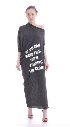Grey Caftan Asymmetric Dress / Maxi Grey Abaya Dress by BlackGems