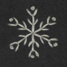 シンプルな雪の結晶の刺繍   【かんたん刺繍教室】たった6つのステッチだけでらくらく刺繍上達ブログ