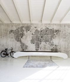 newsprint world map