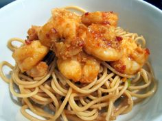 Sophie in the Kitchen: Spicy Chili Shrimp over sesame noodles.  Quick and easy!