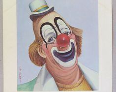 Popular items for clown prints on Etsy