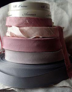 rose pink dupioni silk ribbon by ShyMyrtle on Etsy