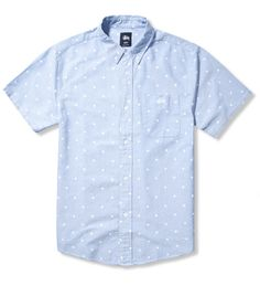 Stussy Light Blue Stars Oxford Shirt