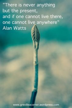 There is never anything but the present - Alan Watts quote for reflection