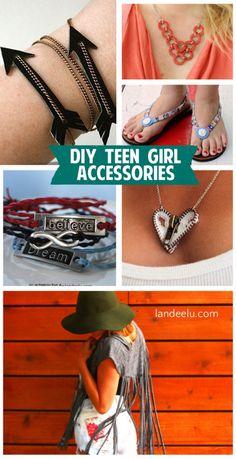 DIY Teen Girl Accessories - Rings, necklaces, bracelets, headbands, flip flops, clothes and  more.  STEP BY STEP TUTORIALS - landeelu.com