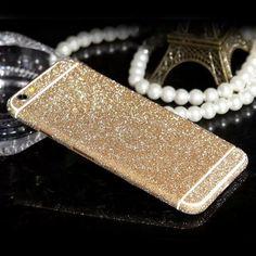 Glitter Full Body Bling Case For iPhone 7 Sticker 4S 5C 5S 6 Plus