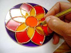 Amém manualidades: Como pintar mandalas em vidro (PAP)