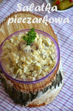 Sałatka pieczarkowa Sandwich Torte, Good Food, Yummy Food, Appetizer Salads, Appetizers, Polish Recipes, Polish Food, Cooking Recipes, Healthy Recipes