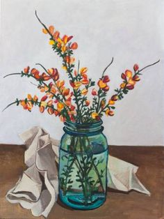 Shop Realism Floral Acrylic Paintings created by thousands of emerging artists from around the world Paintings For Sale, Original Paintings, Art Prints Online, Saatchi Art, Watercolor Paintings, Mason Jars, Glass Vase, Paint Ideas, Canvas
