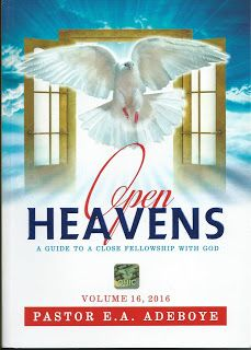 DAY ONE MIRACLE – Friday January 1st 2016 ~ Open Heavens Daily Devotional Messages, By Pastor E.A Adeboye.