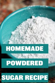 Homemade Powdered Sugar ~ Holistic Obsession
