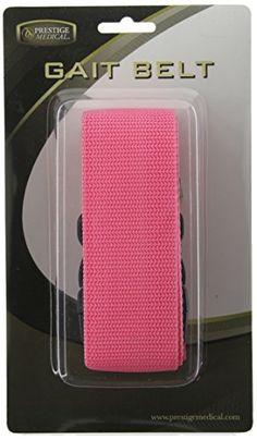 Prestige Medical Nylon Gait Transfer Belt, Hot Pink Plastic Buckle Prestige Medical