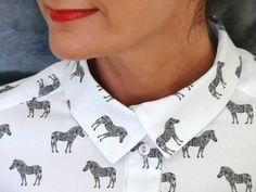 Zebra Quinn Shirt - Bee Made