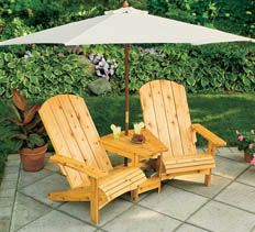 The only thing better than kicking back in an Adirondack chair is kicking back with a good friend right next to you. If there's shade, plenty of elbowroom and a convenient spot to set your favorite book and beverage, all the better. We designed this double Adirondack chair with all of these comforts in mind.