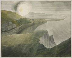Eric Ravilious, 'Shelling by Night' 1941