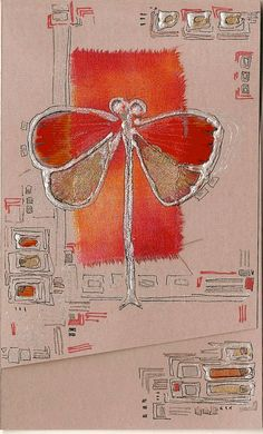 Red fiery dragonfly  blank greeting card for any event door Vlada19, $8,35