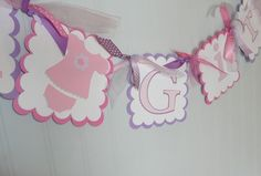 Its A Girl  Banner  Baby Shower Customized by PocketFullofGlitter, $18.00