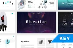 Elevation Minimal Keynote Template by SlidePro on @creativemarket