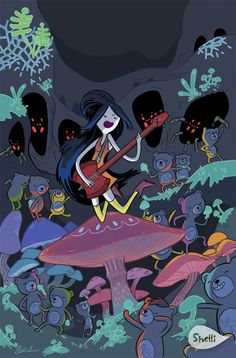 Cover for Adventure Time: Marceline and the Scream Queens (Boom! Studios, 2012 series) [Cover A - Jab] Adventure Time Anime, Adventure Time Wallpaper, Adventure Time Marceline, Adventure Time Princesses, Scream Queens, Cartoon Network, Adveture Time, Marceline And Princess Bubblegum, Finn The Human