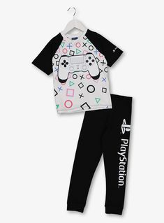 PlayStation Black & White Graphic Pyjamas years) from Tu at Sainsbury's ! Your Online Shop for Boy's Pyjamas & Nightwear Boys Pjs, Boys Pajamas, Pyjamas, Girls Fashion Clothes, Boy Fashion, Fashion Outfits, Toddler Boys, Infant Boys, Rainbow Loom Creations