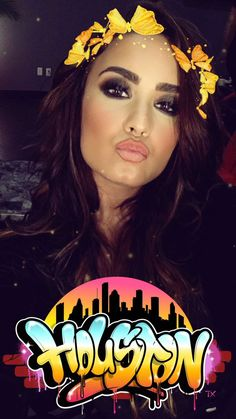 Demi getting ready to perform in Houston, TX