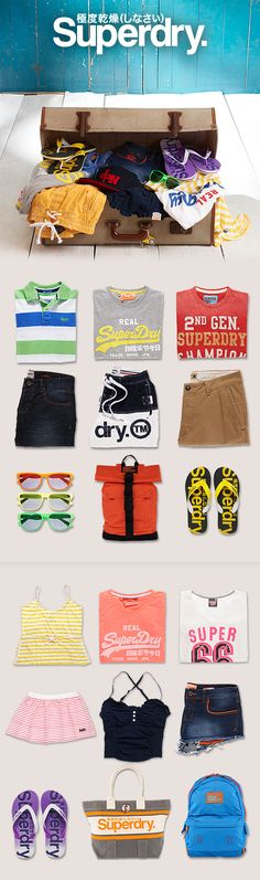 Get away with Superdry holiday shop! From men's board shorts to the Montana rucksack, we've got you covered.