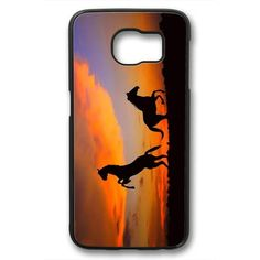 Picture of Horses At Sunset Case for Samsung Galaxy S6 PC Material Black