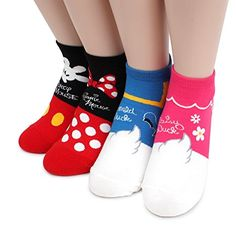 Choice Set Disney Pixar Marvel Socks Mickey Minnie Mouse (Pick me (A) 4pairs) at Amazon Women's Clothing store: