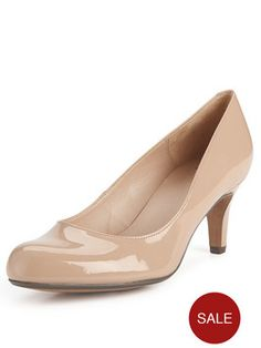 848aac9bcd90 Clarks Arista Abe Court Shoes - Nude Patent