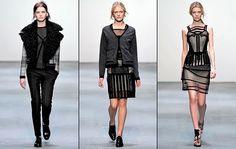 Rennie Macintosh inspired fashion - Little Book Of Secrets: Christopher Kane Fashion Show - Fall / Winter 2009-2010