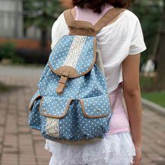 Latest Fresh School Dot Canvas Backpacks - lilyby