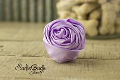 """Lavender Rolled Satin Flower Collar Accessory - Small 1.5"""" Flower"""