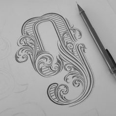 Revision 3 #handlettering #typografia #typography #typographyinspired #letteting #number #ornament #scrolls #art #drawing #graphicdesign #instaart